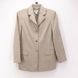 Talbots Womens 2 Piece Skirt Suit Beige 6P